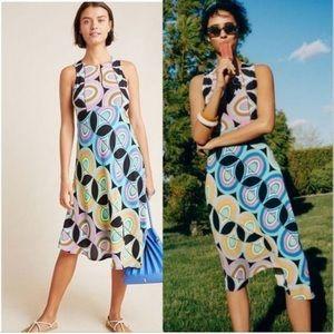 Anthropologie Kenzie colorful midi dress size 4